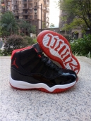 Air Jordan 11 Kids High Black Red White