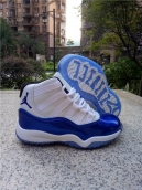 Air Jordan 11 Kids High White Blue
