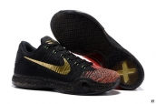 Nike Kobe X Low Weave Christmas Black Golden Orange