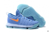 Nike Zoom KD 9 Low Skyblue Orange White