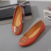 Tory Burch Flat Shoes Woman Orange