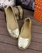 Tory Burch Flat Shoes Woman Golden