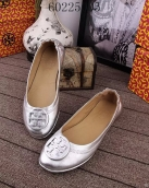 Tory Burch Flat Shoes Woman Silvery
