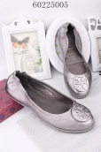 Tory Burch Flat Shoes Woman Silvery Grey