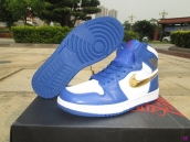Air Jordan 1 Blue White Golden