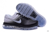 Air Max 2017 Women Leather Black White Grey