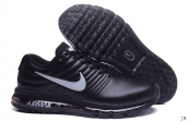 Air Max 2017 Women Leather Black Grey
