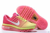 Air Max 2017 Women Rose Red Yellow White