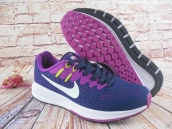 Nike Air Zoom Structure 20 Women Flyknit Navy Blue Purple White
