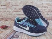 Nike Air Zoom Structure 20 Women Flyknit Navy Blue Jade Green White