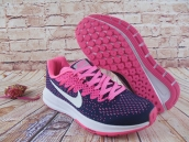 Nike Air Zoom Structure 20 Women Flyknit Navy Blue Pink White