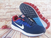 Nike Air Zoom Structure 20 Flyknit Navy Blue Red White