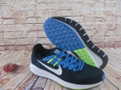 Nike Air Zoom Structure 20 Flyknit Black Blue White Fluorescent Green