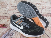 Nike Air Zoom Structure 20 Flyknit Black Grey White Orange