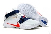 Nike Lebron Zoom Soldier 9 USA Team White Blue Red