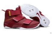 Nike Lebron Zoom Soldier 10 Wine Red White Golden