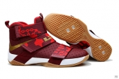 Nike Lebron Zoom Soldier 10 Wine Red Golden White Red