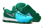 Nike Zoom KD 9 Low Weave Green Peacock blue