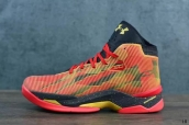 Ua Curry 2-5 High Red Black Golden