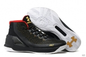 UA Curry III Black Golden Red White