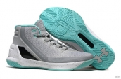 UA Curry III Grey White Turq Blue