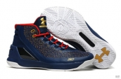 UA Curry III Navy Blue Red Golden White