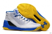 UA Curry III White Blue Yellow
