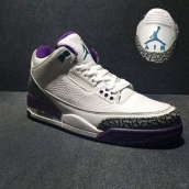 Perfect Air Jordan 3 White Purple
