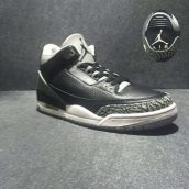 Perfect Air Jordan 3 Black Grey White