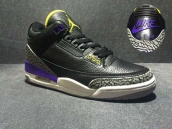 Perfect Air Jordan 3 NIKE Logo Black Purple Yellow
