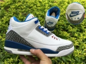 Perfect Air Jordan 3 NIKE Logo White Blue