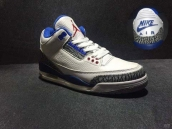 Perfect Air Jordan 3 NIKE Logo White Blue Red
