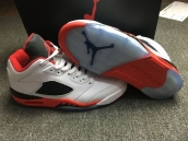 Perfect Air Jordan 5 Low Women White Red Black 200