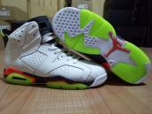 Air Jordan 6 AAA  Women White Black Green Mango