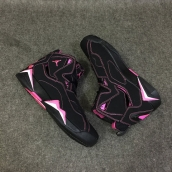 AAA Air Jordan 7 Women Black Pink White 130