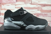 Perfect Air Jordan 8 Low Black Silvery 200