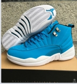 Air Jordan 12 Women Blue White 110