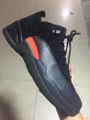 Super Perfect Air Jordan 12 Low Black Orange 400