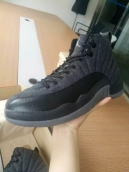 Super Perfect Air Jordan 12 Wool Dark Grey Black 350