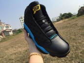 Super Perfect Air Jordan 13 Paul Blue Black Yellow 300