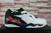 Perfect Air Jordan 8 Low Women White Black Purple 200