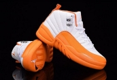 Air Jordan 12 Women White Orange