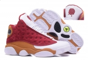 AAA Air Jordan 13 White Orange Red