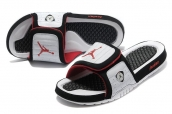 Air Jordan Slipper Black Red White