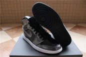 Perfect Air Jordan 1 Black Silvery