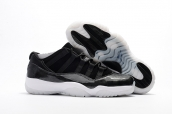 AAA Air Jordan 11 Low Retro Black White
