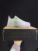 AAA Air Jordan 12 Low Sueded White