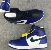 Perfect Air Jordan 1 Logo Black Blue