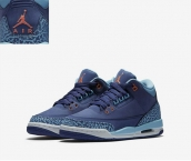 AAA Air Jordan 3 Women Purple Blue