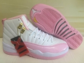 AAA Air Jordan 12 Women Pink White